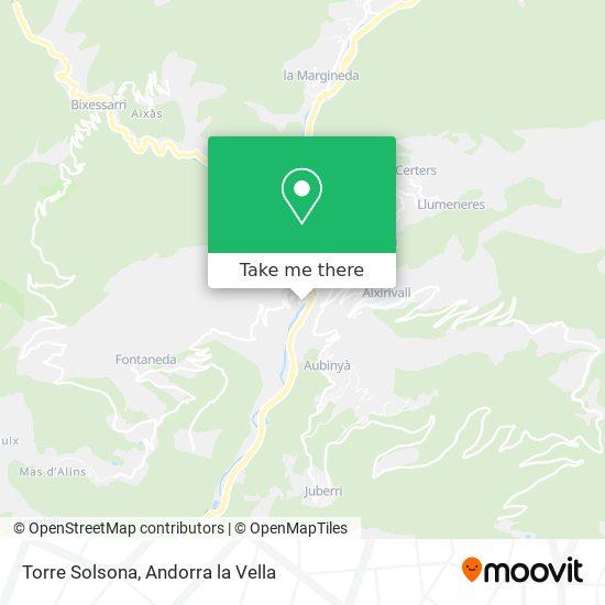 Torre Solsona map