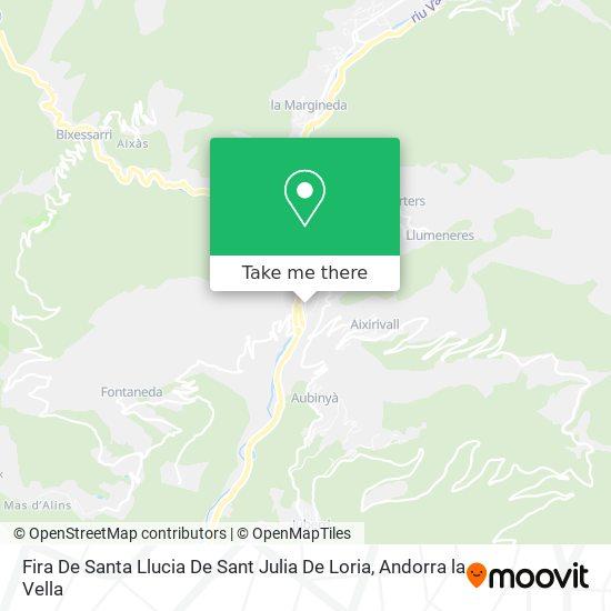 Fira De Santa Llucia De Sant Julia De Loria map