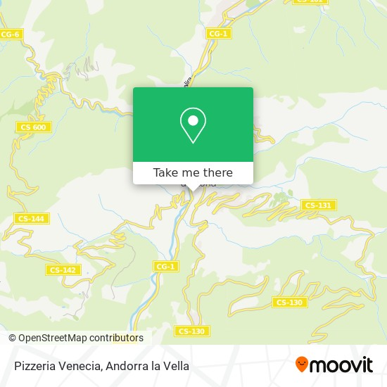Pizzeria Venecia map