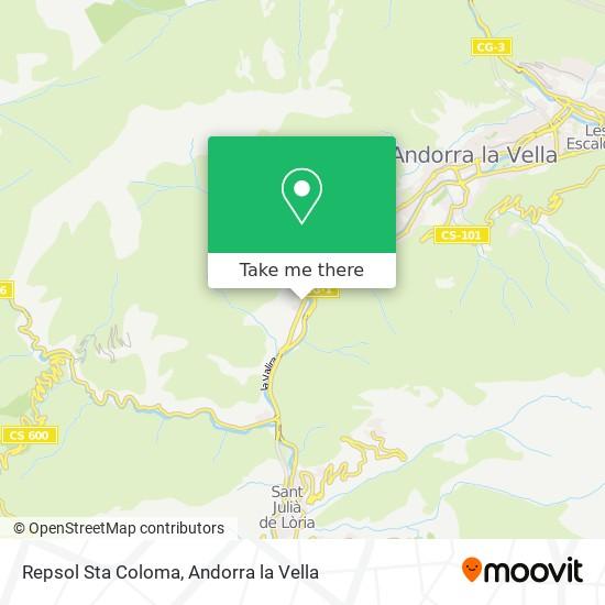 Repsol Sta Coloma map