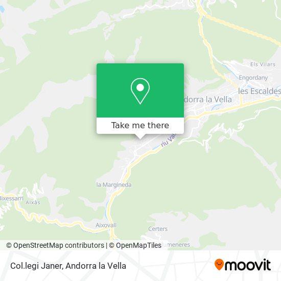 Col.legi Janer map