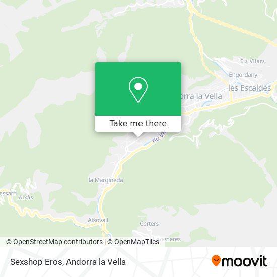 Sexshop Eros map