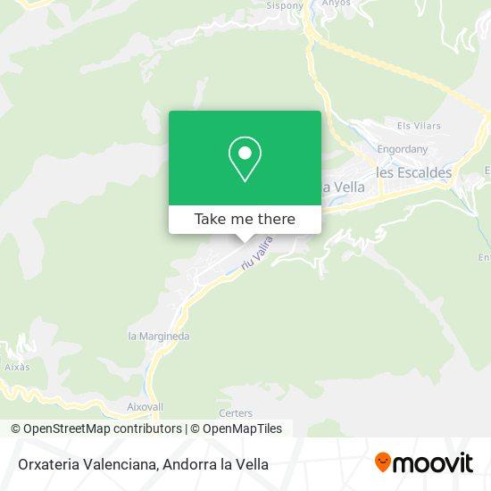 Orxateria Valenciana map