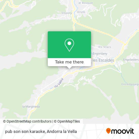 pub son son karaoke map