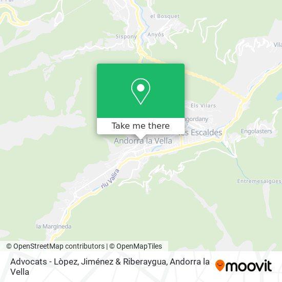 Advocats - Lòpez, Jiménez & Riberaygua map