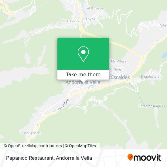 Papanico Restaurant map