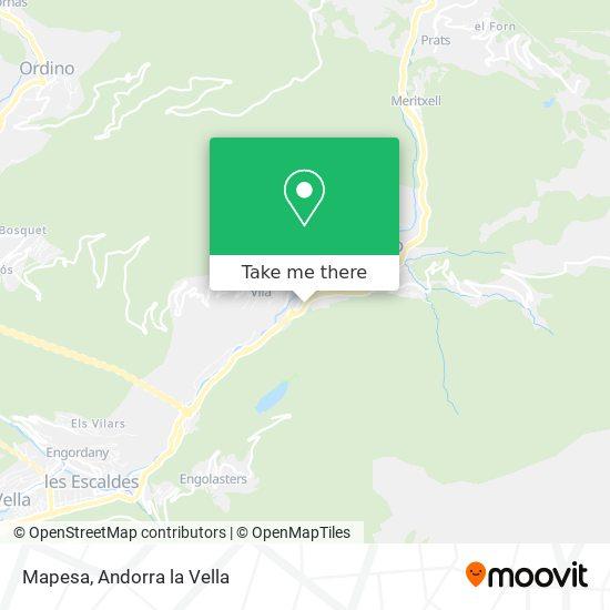 Mapesa map