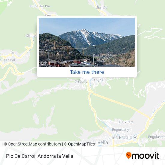 Pic De Carroi map