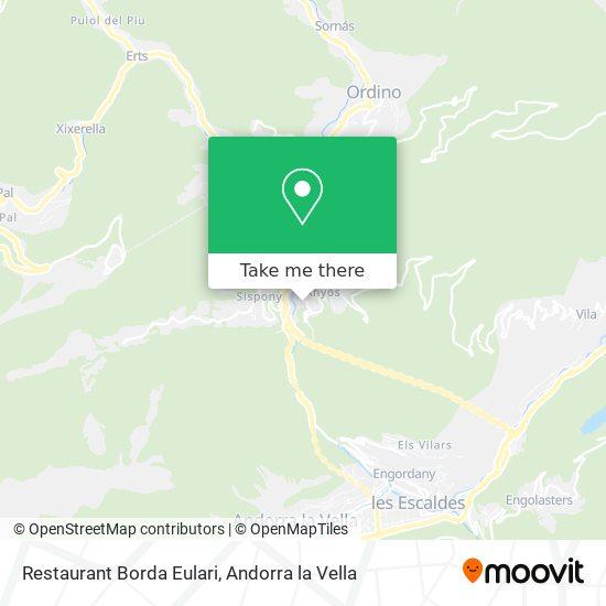 Restaurant Borda Eulari map