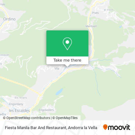 Fiesta Manila Bar  And Restaurant map