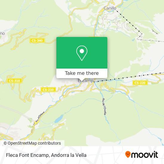 Fleca Font Encamp map