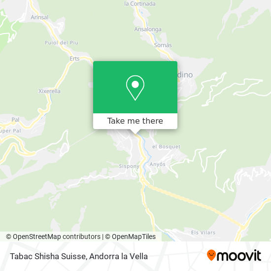 Tabac Shisha Suisse map
