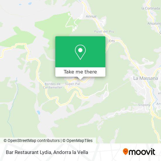 Bar Restaurant Lydia map