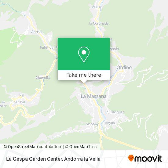 La Gespa Garden Center map