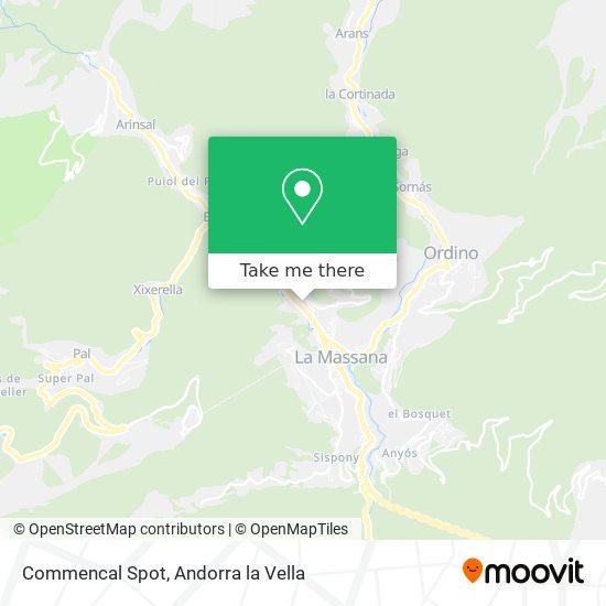Commencal Spot map