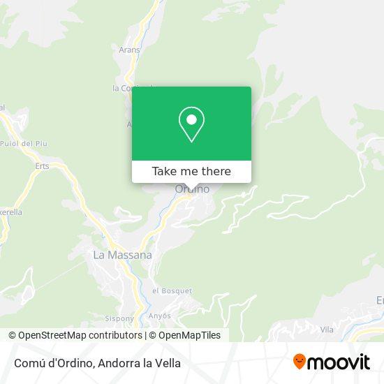 Comú d'Ordino map