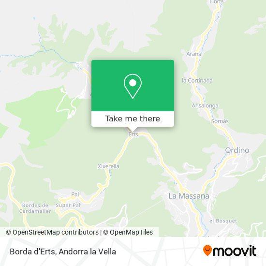Borda d'Erts map