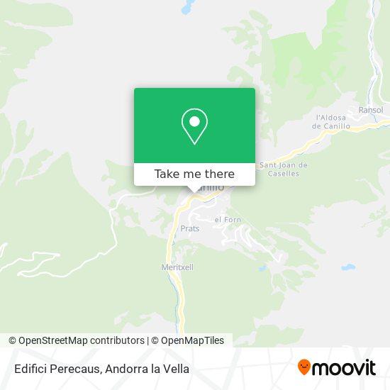 Edifici Perecaus map