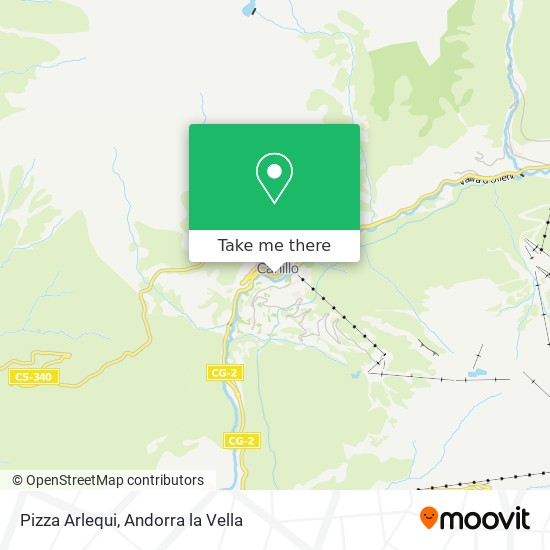 Pizza Arlequi map