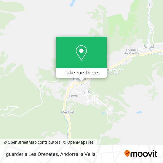 guarderia Les Orenetes map