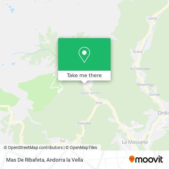 Mas De Ribafeta map