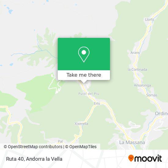 Ruta 40 map
