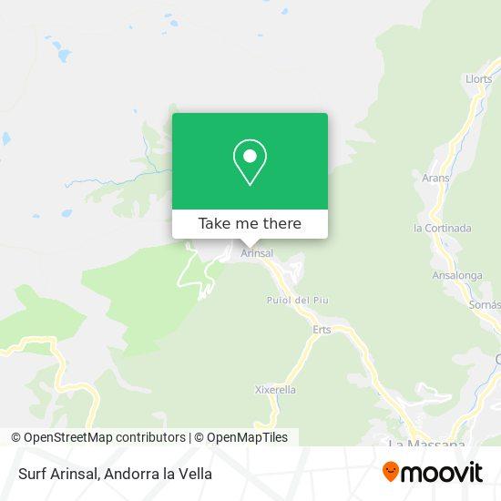 Surf Arinsal map
