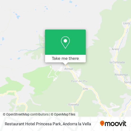 Restaurant Hotel Princesa Park map