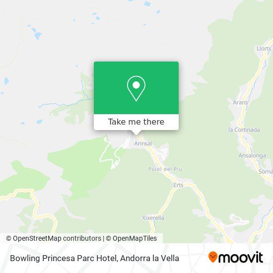 Bowling Princesa Parc Hotel map