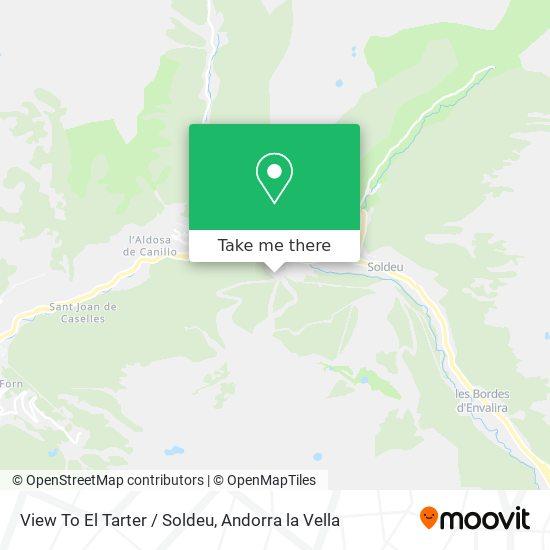 View To El Tarter / Soldeu map