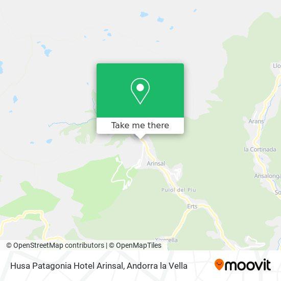 Husa Patagonia Hotel Arinsal map