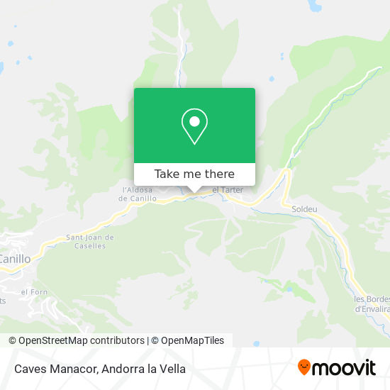 Caves Manacor map