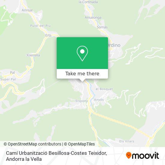 Camí Urbanització Besillosa-Costes Teixidor map