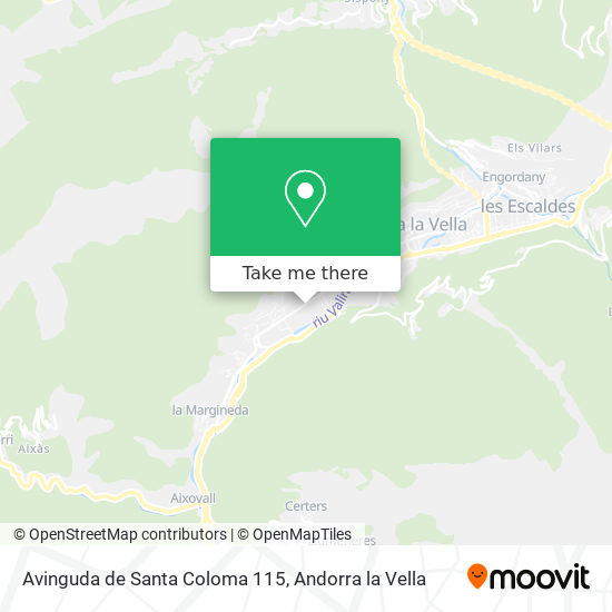 Avinguda de Santa Coloma 115 map