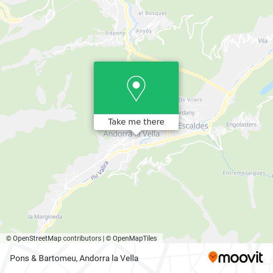 Pons & Bartomeu map