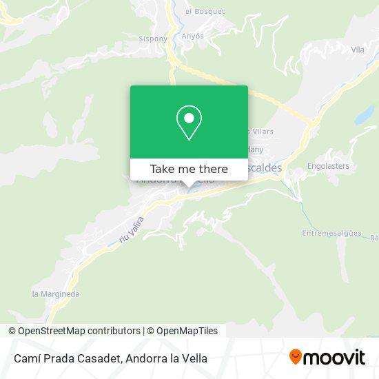 Camí Prada Casadet map