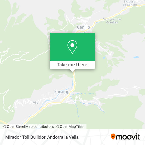 Mirador Toll Bullidor map