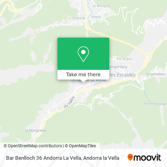 Bar Benlloch 36 Andorra La Vella map