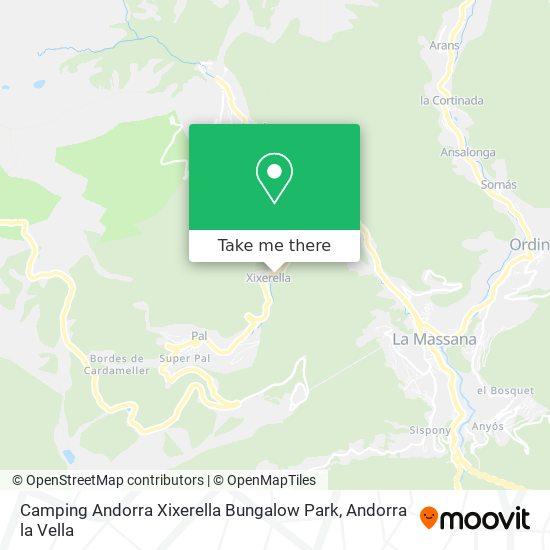 Camping Andorra Xixerella Bungalow Park map