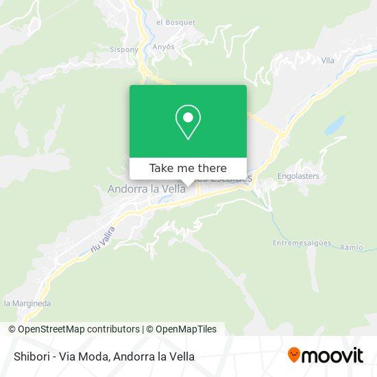Shibori - Via Moda map