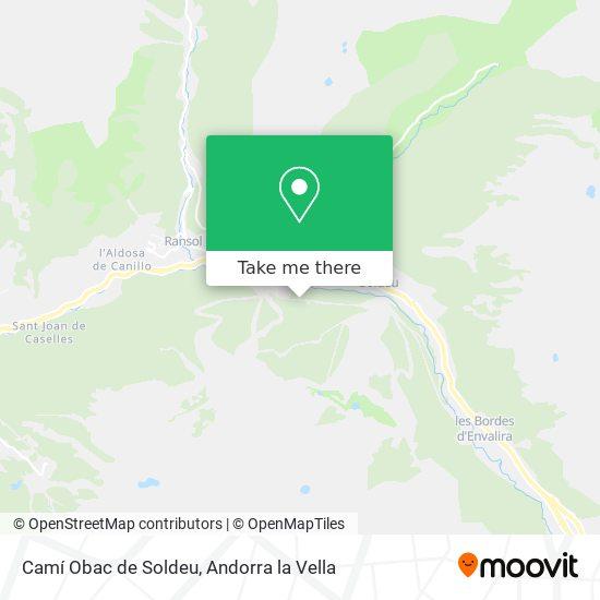 Camí Obac de Soldeu map