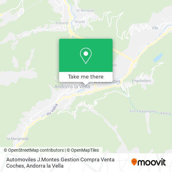 Automoviles J.Montes Gestion Compra Venta Coches map
