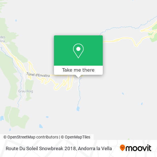 Route Du Soleil Snowbreak 2018 map