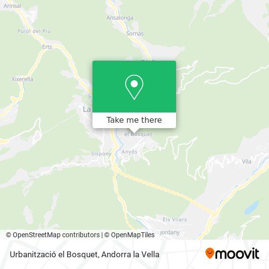 Urbanització el Bosquet map