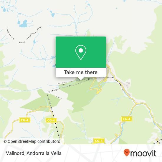Vallnord map