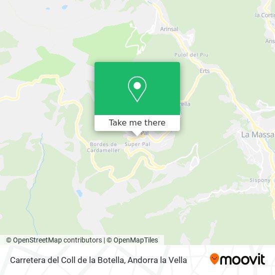 Carretera del Coll de la Botella map