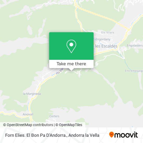 Forn Elies. El Bon Pa D'Andorra. map