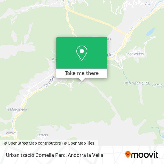 Urbanització Comella Parc map
