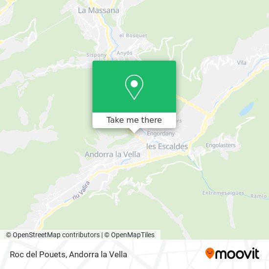 Roc del Pouets map