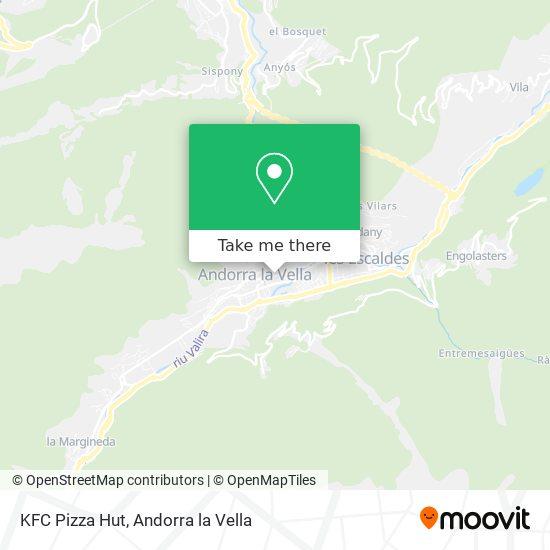 KFC Pizza Hut map